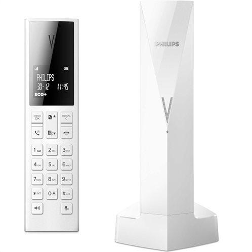 Philips M3501W/GRS (Ελ. Μενού) Ασύρματο τηλέφωνο με αν. ακρόαση, φωτ. οθόνη, φραγή κλήσεων micro-USB