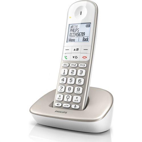 Philips XL4901S/GRS (Ελ. Μενού) Ασ. τηλέφωνο συμβατό με ακ. βαρηκοΐας με ανοιχτή ακρόαση, φωτ. οθόνη