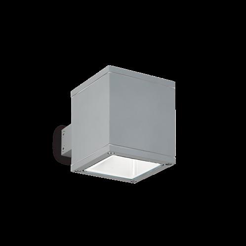 Ideal Lux Φωτιστικό Τοίχου - Απλίκα Μονόφωτο SNIF SQUARE AP1 GRIGIO 118666