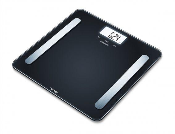 Beurer Γυάλινη Διαγνωστική Ζυγαριά-λιπομετρητής Μπάνιου BF 600 Μαύρη με Bluetooth & Smartphone App