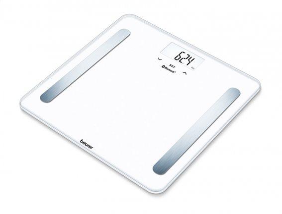 Beurer Ψηφιακή Διαγνωστική Ζυγαριά-λιπομετρητής Μπάνιου BF 600 Λευκή με Bluetooth & Smartphone App