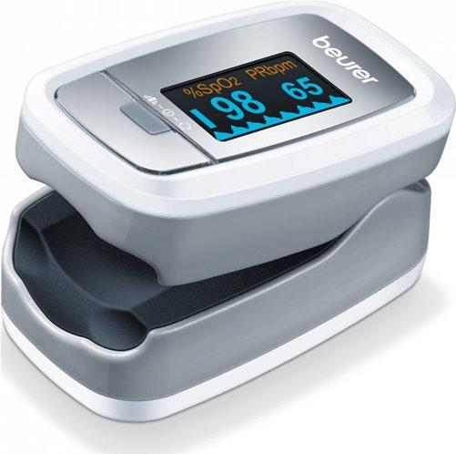 Beurer Οξύμετρο Δακτύλου Παλμικό & Μετρητής Καρδιακών Παλμών ΡΟ 30