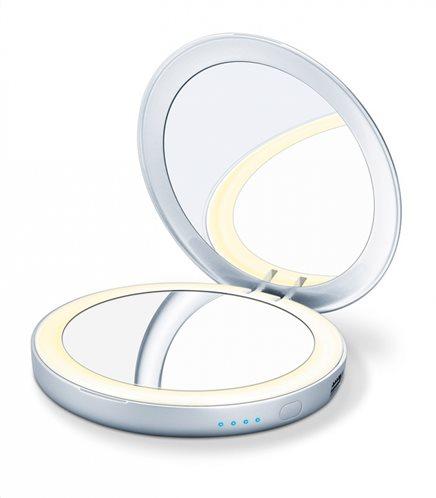 Beurer Φωτιζόμενος Καθρέφτης Καλλωπισμού & Powerbank BS 69 Illuminated Cosmetic Mirror