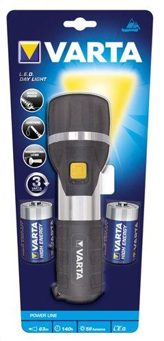 Varta Φακός LED Day Light (Περιλαμβάνει 2 μπαταρίες D) 17611