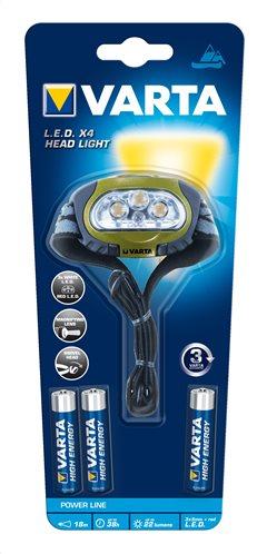 Varta Φακός LED Αδιάβροχος Head Light (Περιλαμβάνει 3 μπαταρίες AAA) 123449