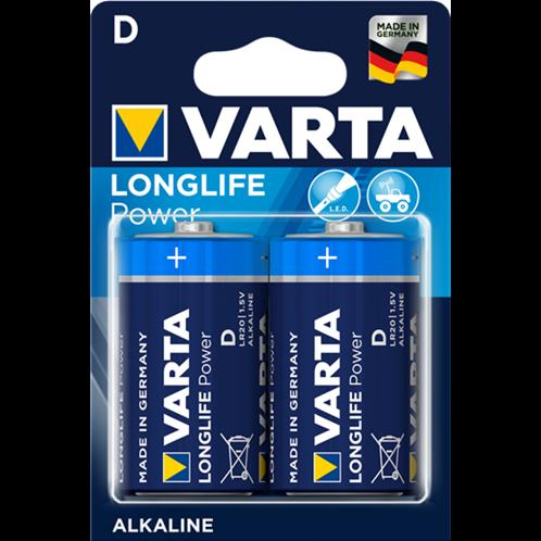 VARTA LONGLIFE POWER D BLISTERx2pcs