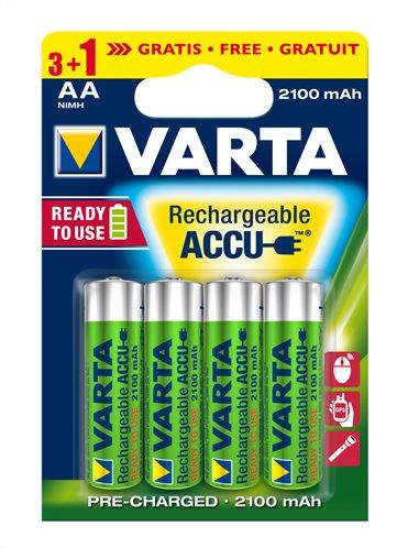 VARTA Επαναφορτιζόμενες Μπαταρίες (3+1)xAA 2.100mAh   allSmart