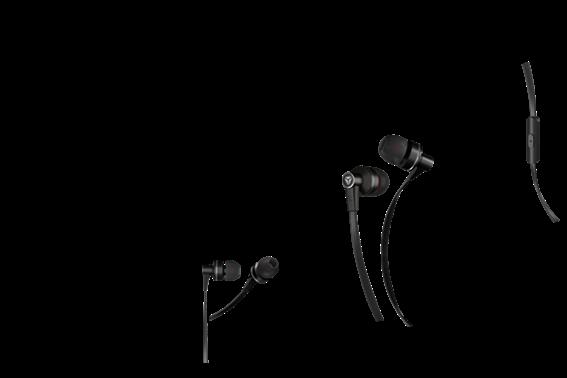 Yenkee Ακουστικά Handsfree Flat Μαύρο YHP 105 BK