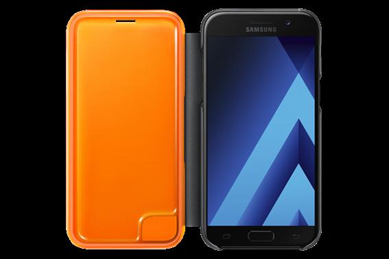 Samsung Case Neon Flip Cover Galaxy A5 2017 Black