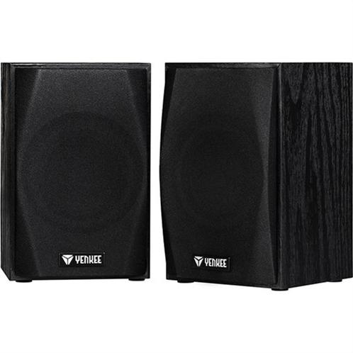 Yenkee Ηχεία Υπολογιστή Ξύλινα  2.0 3.5mm YSP 2010BK Speaker System Μαύρο