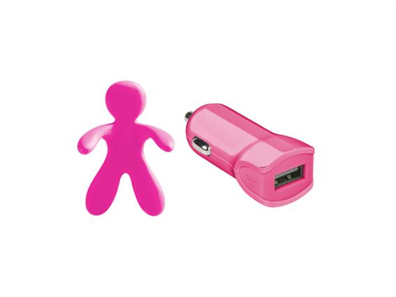 Celly Charger & Car Freshner Bundle Giuliocesare Pink