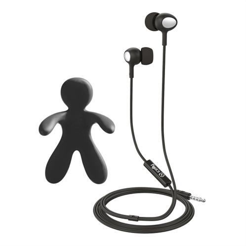 Celly Car Freshner Bundle & Stereo Earphones Black