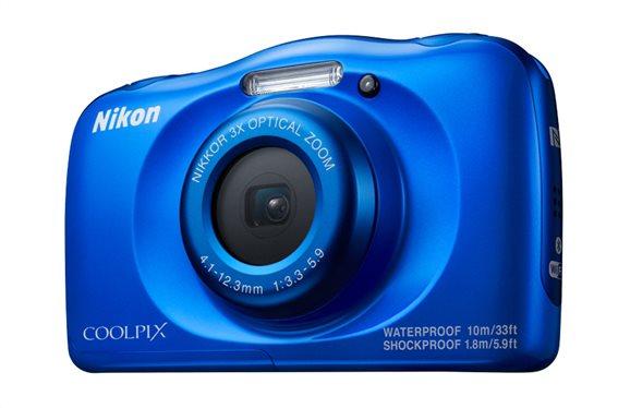 Nikon Φωτογραφική Μηχανή Compact Αδιάβροχη W100 Blue Backpack kit & Τσάντα