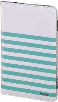 "Hama 'Stripes' Λευκή/Τιρκουάζ θήκη για tablet και e-readers από 17, 78 cm (7"") έως 20, 3 cm (8"")"