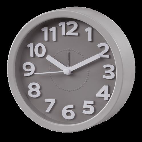 Hama Επιτραπέζιο ρολόι , χαμηλού θορύβου ,  Γκρί