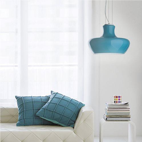 Ideal Lux Κρεμαστό Φωτιστικό Οροφής Μονόφωτο ALADINO SP1 D30 AZZURRO 137292