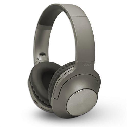 NOD Bluetooth over-ear ακουστικά με μικρόφωνο, σε γκρι χρώμα, PLAYLIST GREY