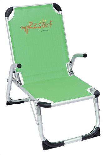 MyResort Καρέκλα Παραλίας Αλουμινίου Ψηλή Πλάτη, Λαχανί