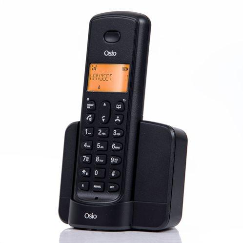 Osio OSD-8910B Μαύρο (Ελ. Μενού) Ασύρματο τηλέφωνο με ανοιχτή ακρόαση και 50 μνήμες τηλ. καταλόγου