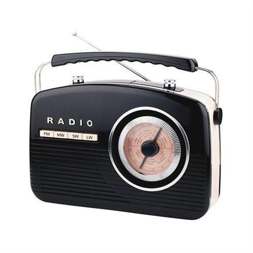 Camry Φορητό Ραδιόφωνο Retro Black CR1130