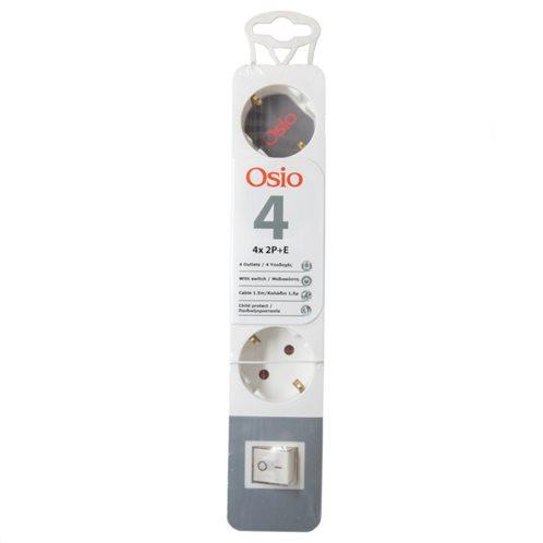 Osio OPS-2004 Πολύπριζο 4 θέσεων με παιδική προστασία, διακόπτη και καλώδιο 1.5 m