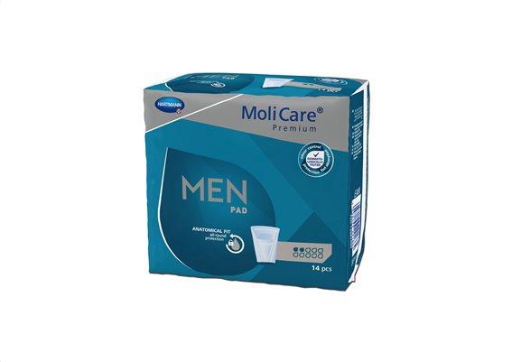 MoliCare Premium men pad Ανδρικές Σερβιέτες 4 σταγόνων  14τεμ.