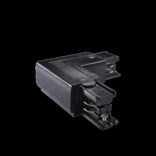 Ideal Lux Αξεσουάρ Φωτιστικού LINK TRIMLESS L-CONNECTOR LEFT BLACK 169712