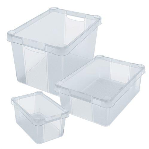 Κουτί αποθήκευσης πλαστικό MilanoS6 με καπάκι 28 x 19 x H14 cm