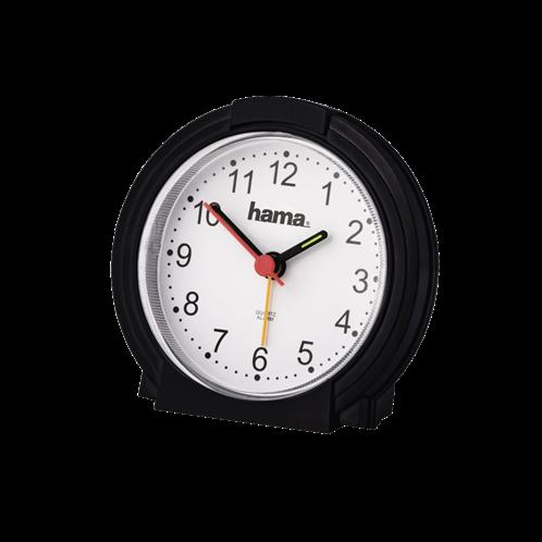 Hama Επιτραπέζιο ρολόι , χαμηλού θορύβου ,  μαύρο