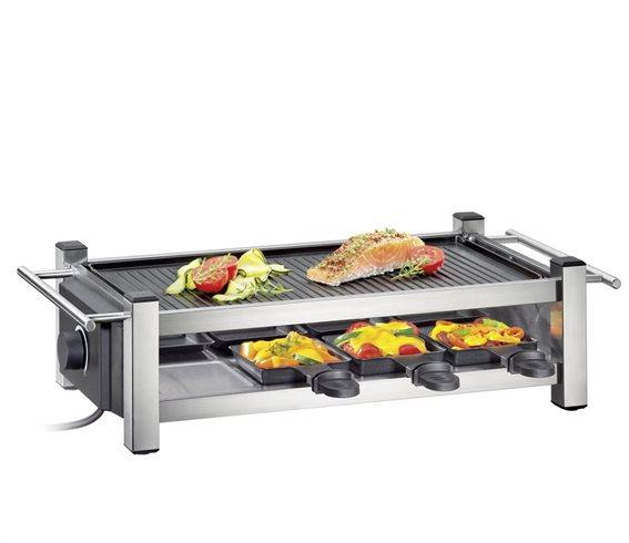 Kuchenprofi Ψηστιέρα-Raclette Ανοξείδωτη Taste 1200W - 52X23,5X13,5cm