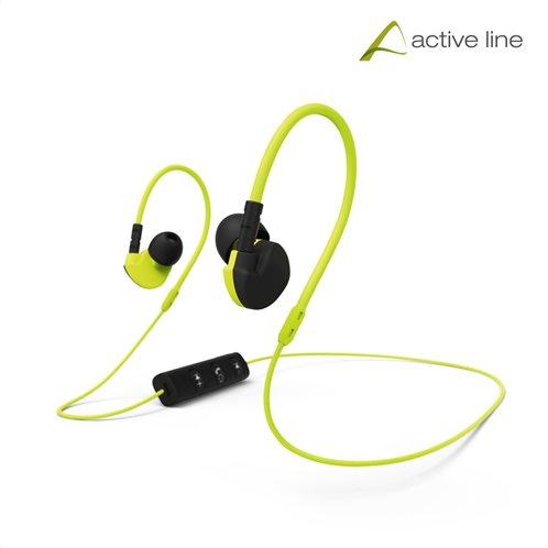 "Hama ""Active BT"" Clip-On Sport Ακουστικά, μαύρα / κίτρινα"