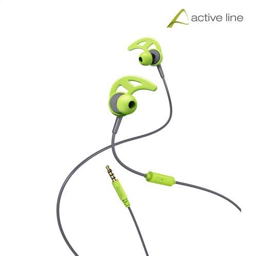 "Hama ""Action"" Sports Ακουστικά, in-ear με ear-hook, πράσσινο/γκρί"