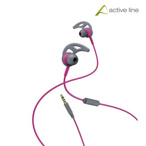 "Hama ""Action"" Sports Ακουστικά, in-ear με ear-hook, γκρι/ροζ"