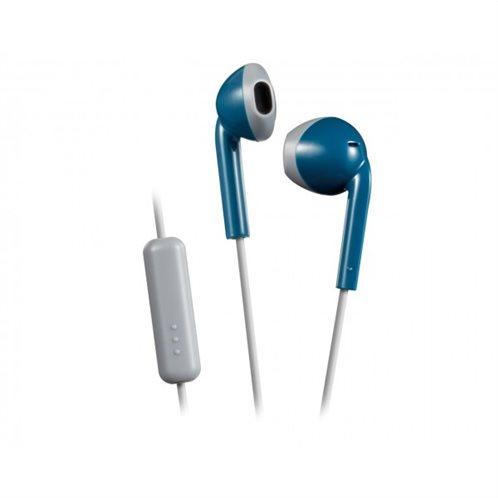 Ρετρό Ακουστικά HAF19MAH με κουμπί & Mic Μπλε