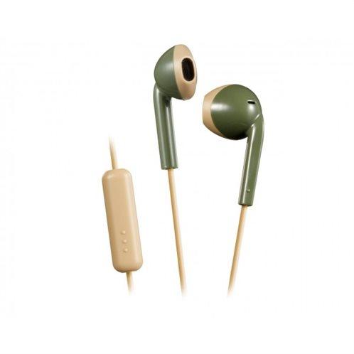 Ρετρό Ακουστικά HAF19MGC με κουμπί & Mic Χακί