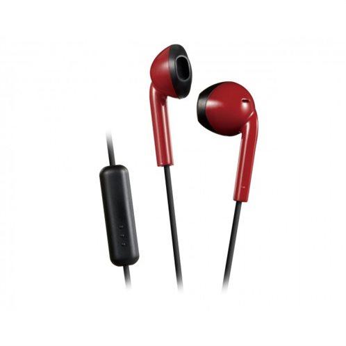 Ρετρό Ακουστικά HAF19MRB με κουμπί & Mic Κόκκινο