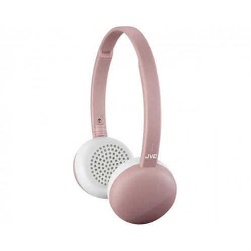 JVC Επίπεδα Ασύρματα Aκουστικά με Bluetooth με 3 κουμπιά και Mic (Ροζ)