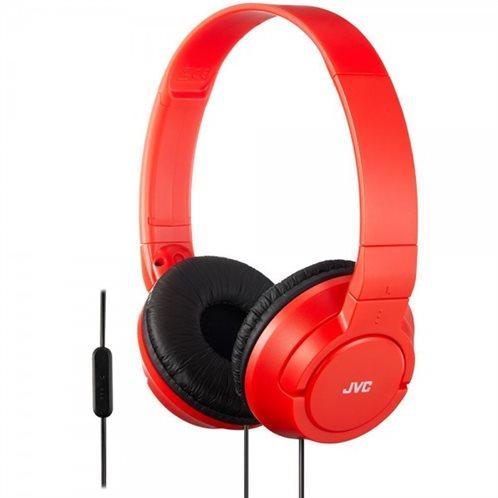 JVC on-ear Ακουστικά Κεφαλής με μικρόφωνο HASR185RN Κόκκινο