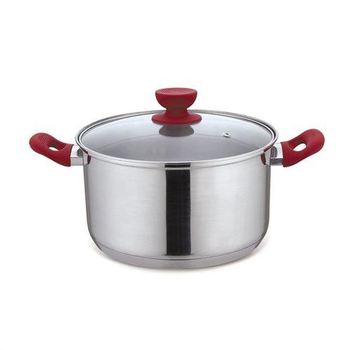 Izzy Κατσαρόλα Με Καπάκι 24cm Cucina Rossa 826 Inox