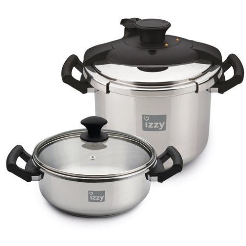 Izzy Χύτρες Ταχύτητας Multi Set 8lt-4lt Cookware