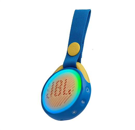 JBL JR POP, portable wireless speaker with light (blue)