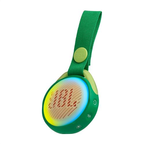 JBL JR POP, portable wireless speaker with light (green)