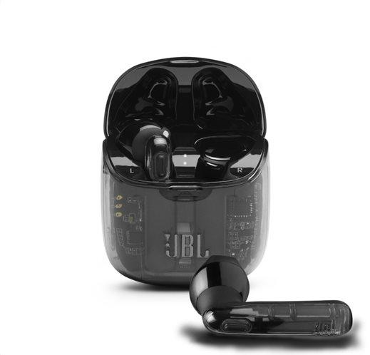 JBL Tune 225TWS, True Wireless Ear-Buds Headphones, (Ghost Black)