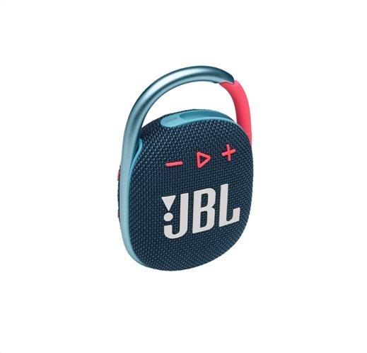 JBL Clip 4, Portable Bluetooth Speaker, Waterproof IP67 (Blue-Pink)