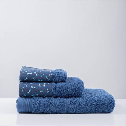 White Fabric Πετσέτα Beni Μπλε Μπάνιου