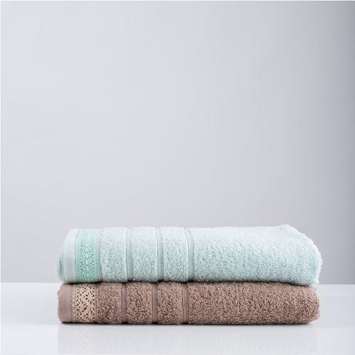 White Fabric Πετσέτα Lace Mint Μπάνιου