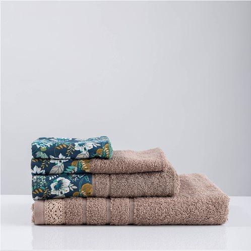 White Fabric Σετ Πετσέτες Odetta Μπεζ