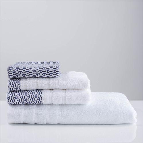 White Fabric Πετσέτα Telendo Λευκή Προσώπου