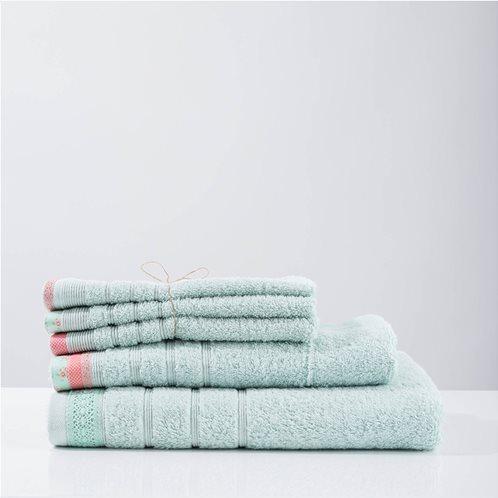 White Fabric Πετσέτα kitty Mint Προσώπου