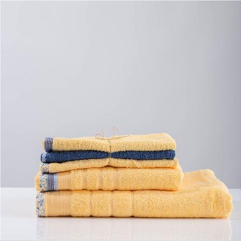 White Fabric Σετ Πετσέτες Κίτρινες Μωβ